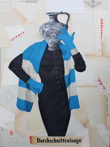 Durchschnittsvissage 2019 Collage auf Holz 40 x 30 x 3 cm