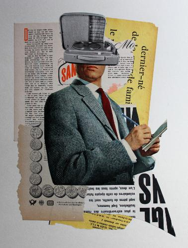 San 2018 Collage 40 x 30 cm